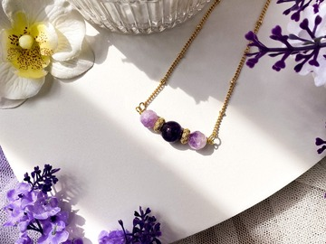 : Phoibe Lilac Amethyst Pendant Necklace