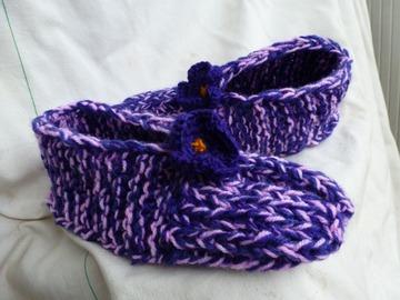 Vente au détail: chausson  d'intérieur ou pantoufle fait main