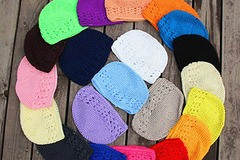 Buy Now: 50 Liquidation handmade crochet baby hats, beanies. $0.90 Each
