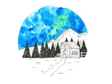 : The Mountain Hut (Print)