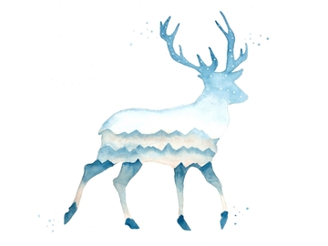 : The Winter Deer (Print)