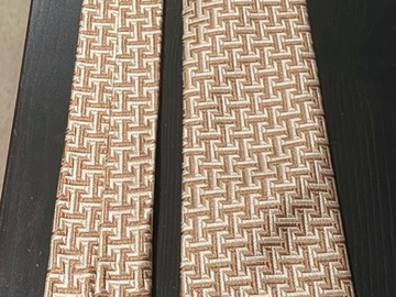 Selling with online payment: Richard James Savile Row Gold Silk Tie with Geometric pattern