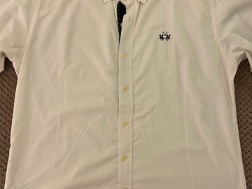 Selling with online payment: La Martina Spread Collar Shirt - Official Argentina Polo