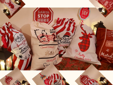 For Sale: Personalised  Santa/gift bags