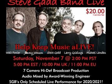 Announcement: Steve Gadd Band Live Nov. 7th