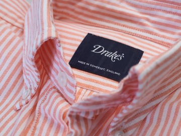 Selling with online payment: [Size 15.5] Drakes Button Down Salmon Shirt
