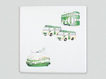 : Public transport Hong Kong style placemat/trivet