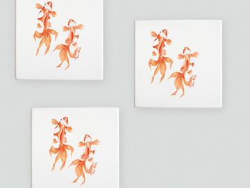 : Goldfish coasters