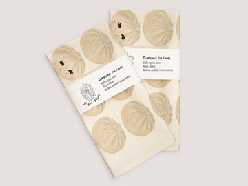 : Dumplings tea towel