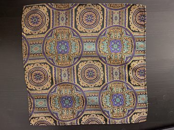 Selling with online payment: Achille Saridis Byzantine-inspired pocket square