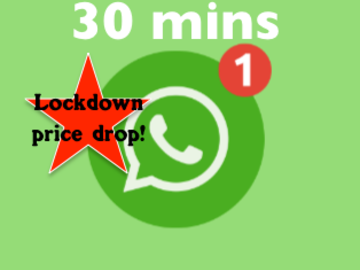 Selling: WHATS APP 30 minute Reading