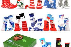 Liquidation/Wholesale Lot: 12 Pair  Christmas Socks Gift Box Set