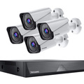 Liquidation/Wholesale Lot: Security Camera System With 4 Cameras (Limited Supply)