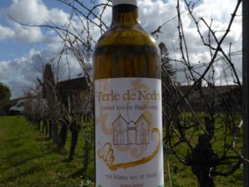 Vente avec paiement en ligne:  6 bouteilles Perle de Nodot Vin blanc certifié en Biodynamie