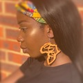 For Sale: African map dope earrings