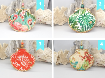 Selling with online payment: Scallop Ornaments,  4.5 to 5 inches