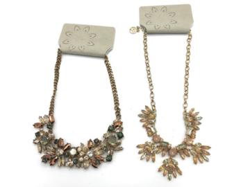 Liquidation/Wholesale Lot: 12 Erica Lyons  Autumn Crystal Necklaces