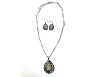 Buy Now: 12 Genuine Abalone Shell Necklace & Earring set