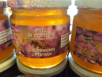 """Les miels : Miel de Montagne  """"Les Butineuses de Mariaux"""""""