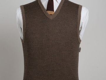 Selling with online payment: Brooks Brothers Houndstooth Merino Wool Sweater Vest (Size S)