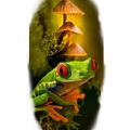 Tattoo design: Red Eyed Tree Frog
