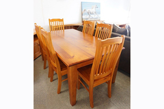 For Sale: SUSAN 1.0/1.2/1.5/1.8/2.1m Solid Wood Dining Set Series * Solid P