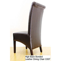 For Sale: VINCENT High Back Bonded Leather Dining Chair-Black Colour