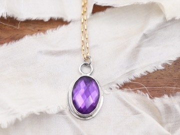 Selling: Rainbow Gemstone Necklace : Amethyst