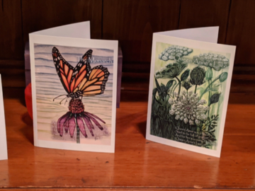 Selling with online payment: Nature poetry notecards