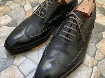 Selling with online payment: Meermin Green Museum Calf Austerity Brogues