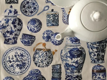 : Tea towel : Chinese Porcelain