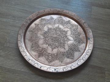 Vente: grand plat en cuivre