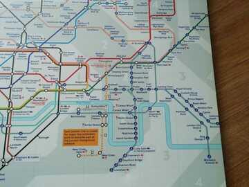 Vente: toile plan du métro de Londres
