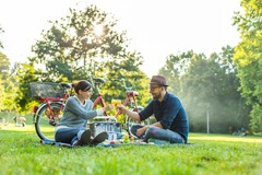 "Tandem bicycle rental: Tandem ""Rixi"" mit Standard Picknick in Leipzig"