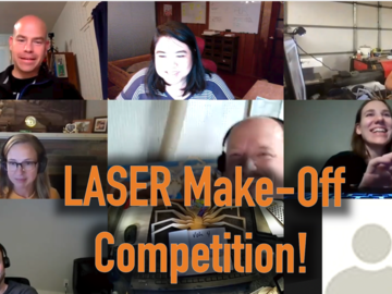 Virtual Learn a skill (groups): Laser Make-Off Competition!  December:  Holiday Mystery Project