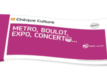 Vente: Chèques Culture (160€)