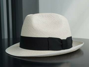 Selling with online payment: Narrow brimmed Panama hat from Christy's hat (size 57)