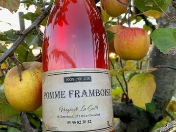 Vente avec paiement en ligne: Jus de Pomme-Framboise