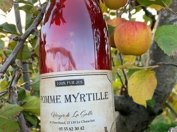 Vente avec paiement en ligne: Jus de Pomme Myrtille