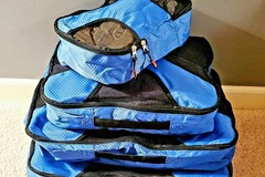 Buy Now: Set Of 4 – Blue Travel Packing Cubes – Only $5.00/Set