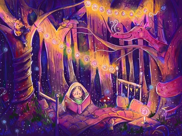 Illustration work : Custom double page spread