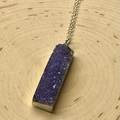 Selling with online payment: Purple Druzy Necklace