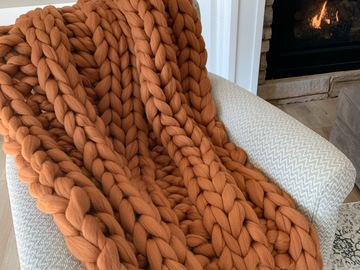 Selling: 100% Merino Wool Chunky Blanket | See Description to Purchase