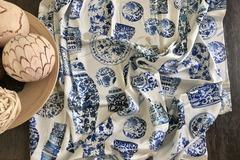 : Silk Satin Scarf : Chinese Porcelain