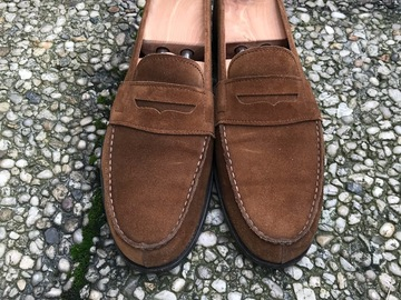 Online payment: Carmina penny loafers brown suede 9UK/43