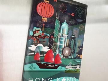 : HONG KONG GEOMETRIC FRIDGE MAGNET