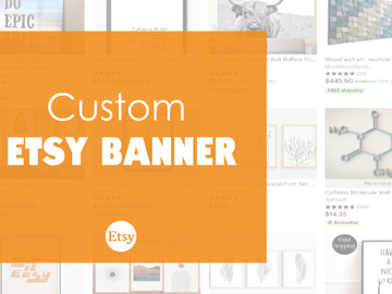 Offering online services: Custom Etsy Banner for your Shop