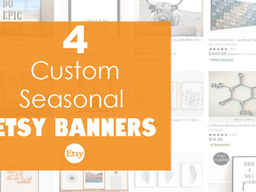 Offering online services: 4 Custom Etsy Banners for your Shop
