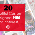 Offering online services: 20 Beautiful Custom Designed Pins for Pinterest
