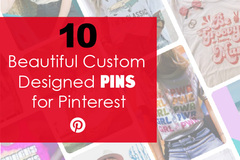 Offering online services: 10 Beautiful Custom Designed Pins for Pinterest